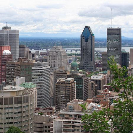 An image of Montreal, Quebec, from Mont Royal.
